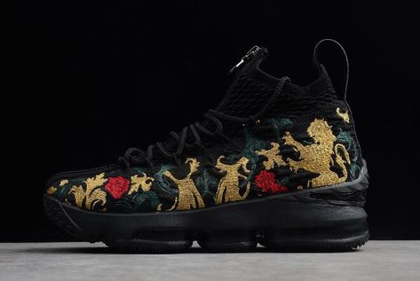"d2ce432ba2f KITH x Nike LeBron 15 Performance ""Closing Ceremony"" Black Multi-Color  AJ3936-002"