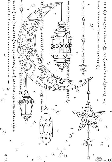 coloring page lanterns  zeichnungen malvorlagen und