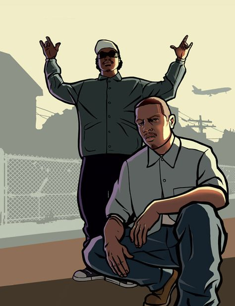 Ryder & Carl Art - Grand Theft Auto: San Andreas Art Gallery