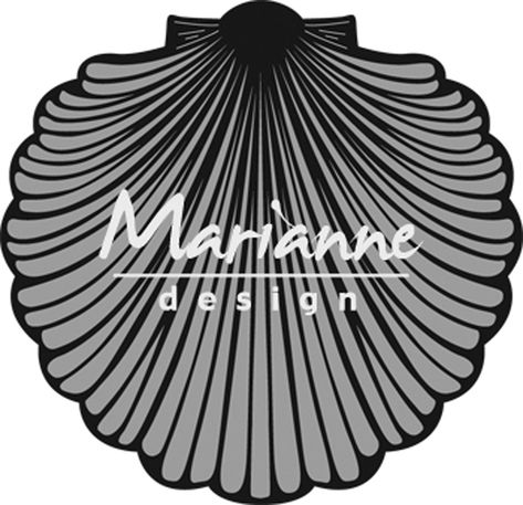 Marianne Design Craftables Sea Shell Punch Die Grey by Marianne Design Metal