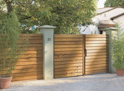 Conseil N 3 Opter Pour Le Bon Materiau Portail Bois Facade