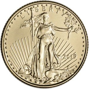 2019 American Gold Eagle 1 10 Oz 5 Bu Gold American Eagle Gold Eagle Gold Bullion Coins