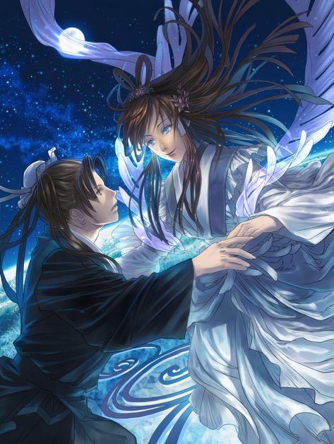 """Orihime e Hikoboshi é a Lenda que originou o """"Festival das Estrelas"""",conta sobre o amor proibido entre a Princesa Tecelã e o Pastor de rebanhos"""
