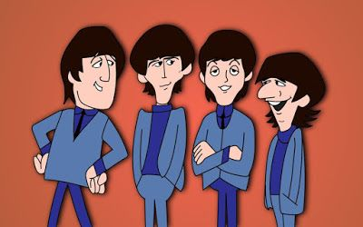 Beatles Una Vieja Pelicula 1965 En Dibujos Animados Plasticos Y Decibelios Beatles Cartoon Cartoon Shows Cartoon
