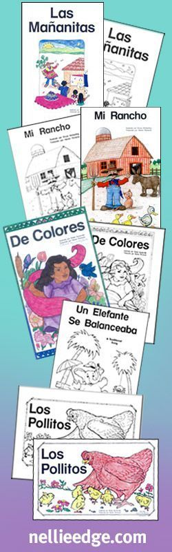 Big Books by Nellie Edge for delightful kindergarten reading! Children deserve to read and sing the beautiful language of their culture. Choose from English and Spanish versions. #kindergartenliteracy #spanishkindergarten #spanish #preschool #bigbooks #nellieedge #kindergarten #kindergartensongs #predictable #reading #books #literacycoach #traditionalsongs #favorite #songs #rhymes #decolores #classroom #fun #teachreading
