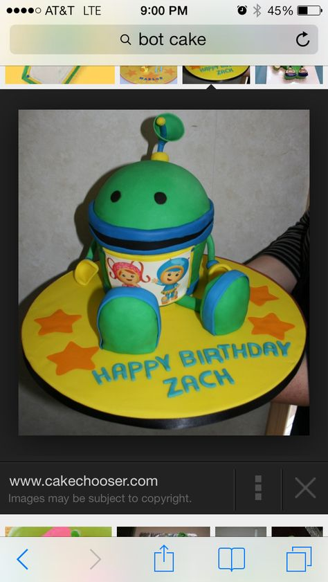 Bot from Team Umizoomi cake