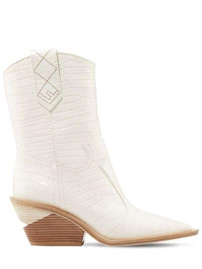 many fashionable pretty cheap run shoes FENDI 60MM EMBOSSED CROC COWBOY BOOTS | Boots, Fendi, Cowboy boots