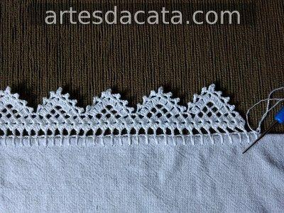 Bico Em Croche Carreira Unica Artes Da Cata Bico De Croche