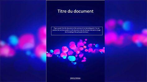 Modele Page De Garde Pour Un Rapport De Stage Stagepfe
