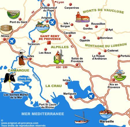 Plan St Remy De Provence Saint Remy De Provence Carte De France