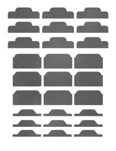 Template for avery 11109 big tab inserts for dividers, 5-tab.