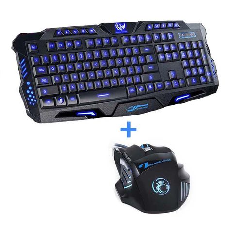 Computers Accessories Doco Oler 7pin Pk 900 Gaming Keyboard Led Backlight Keyboard With Mobile Phone Holder Wrist Rest Silver Gaming Keyboards Computers Accessories