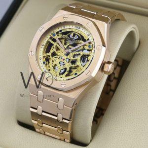 ساعة Audemars Piguet تعمل بعدادات بلون رصاصى وسيرفضى من المعدن Watches Prime Gold Watch Rolex Accessories