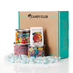 Five lucky winners will each receive a Candy Club one-year membership. The membership includes a box per month of three candy varieties. (Approx. retail value: $250.00)