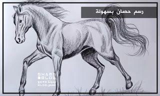 مدونة شمس تعلم رسم الحصان بسهولة Animals Horses Moose Art