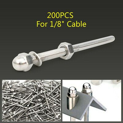 T316 Stainless Steel Threaded Terminal Studs End Fitting 1 8 Cable Railing Hot In 2020 Cable Railing Railing Cable Railing Systems