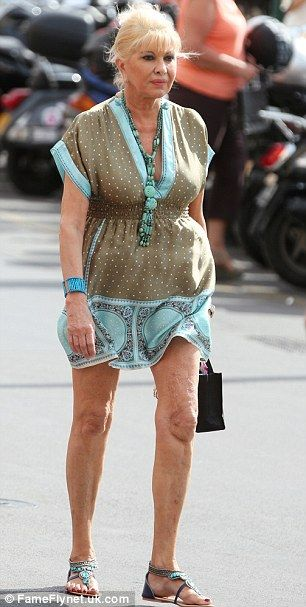Ivana Trump: The kaftan was leaving little to the imagination. This might help keep me on my diet ?