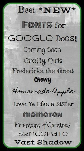 Android Mom Top 10 Fonts For Google Docs Top 10 Fonts Google Docs Fonts