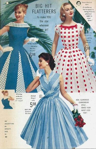 Pin By Unique Vintage On 1950s Fashion Vintage 1950s Dresses Vintage Outfits Retro Fashion