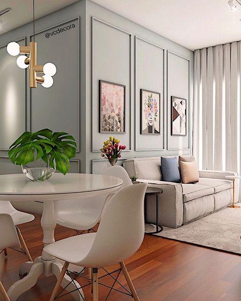 """Design de Interiores on Instagram: """"😱 Para ver o antes dessa sala, passe para o lado 👉🏻 . O apartamento era alugado e a intenção aqui era fazer pequenos ajustes para não…"""""""