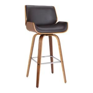 Armen Living Rayner Contemporary 26 In Counter Height In Brushed Stainless Steel Finish And Grey Faux Leather Bar Stool 721535738199 The Home Depot Leather Bar Stools Bar Stools 30 Inch Bar Stools