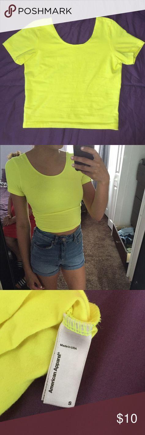 8ea1888a34422 American Apparel Crop Top Neon yellow American Apparel crop top. Worn once
