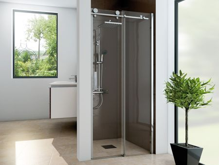 Dusche Nischentur Schiebetur 140 X 200 Cm Dusche Schiebetur