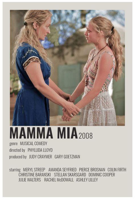 minimal movie posters mamma mia