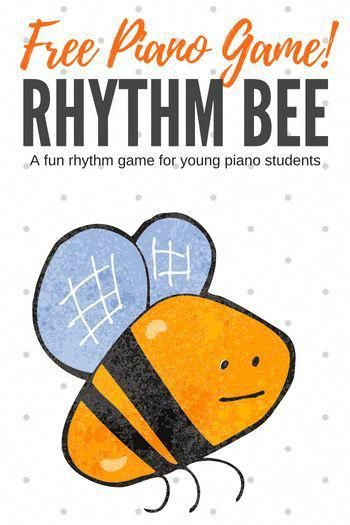 Free piano teaching game - your young piano students will love buzzing around your studio to learn about rhythm! #PianoLessons #PianoTeaching #PianoGame