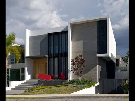 Diseño De Casa Moderna De Dos Plantas [Planos Y Fachadas]   FACHADAS    Pinterest