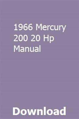 1966 Mercury 200 20 Hp Manual | waytimiska | Outboard motors