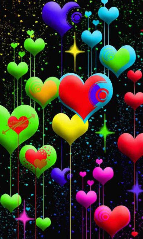 Картинки анимации сердечки на телефоне, женщины рисованная открытки