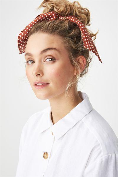 4b10ceb3eacc9 Maddison Scarf Scrunchie, RUST POLKA DOT | WANTS | Hats for women ...