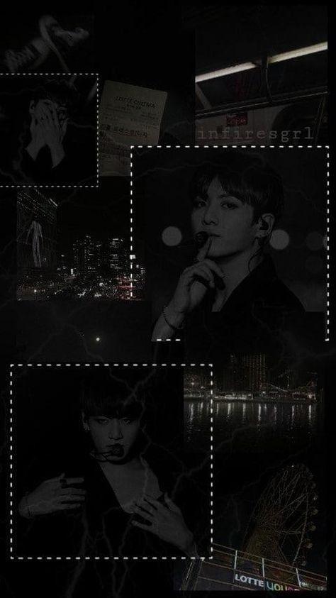 Bts S Jungkook Hd Lockscreen Part 22 Aesthetic Edition Jungkook Aesthetic Black Aesthetic Wallpaper Black Wallpaper