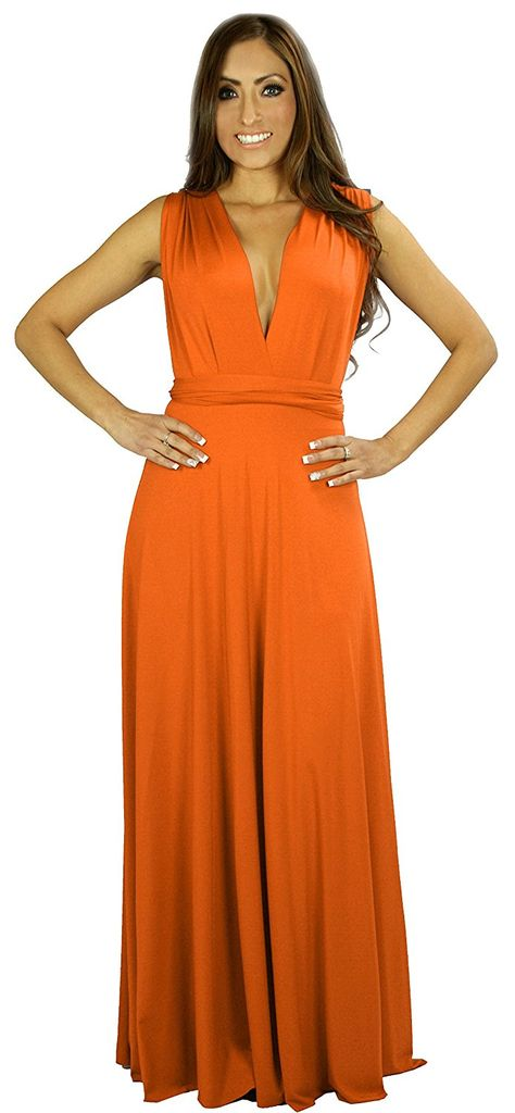 fcce16fda75 Tangerine Wrap Magic Women s Convertible Infinity Dress Long Maxi Full  Length     Remarkable product available now.   Bridesmaid Dresses