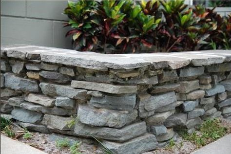 My Flagstone Planter Box I Want For The Front Yard Stone Planters Planters Front Yard