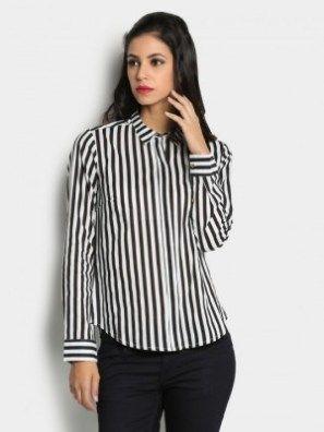 32++ Black and white striped shirt womens ideas info