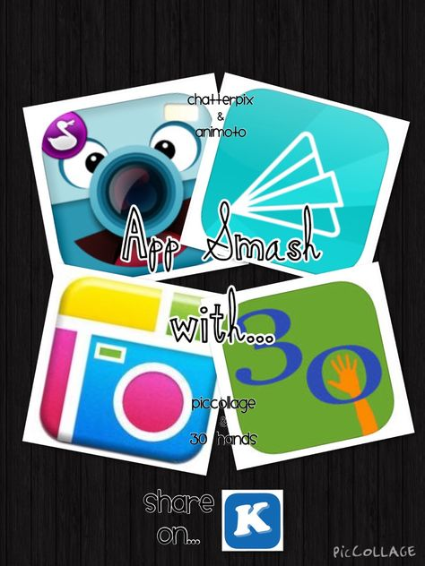 TOUCH this image: App Smashing: ChatterPix/Animoto & PicCollage/30Hands by Stacie Taylor