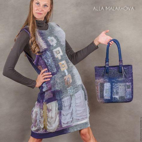 6a3f882a6d5 Валяная сумка Ночной Амстердам – купить или заказать в интернет-магазине на Ярмарке  Мастеров