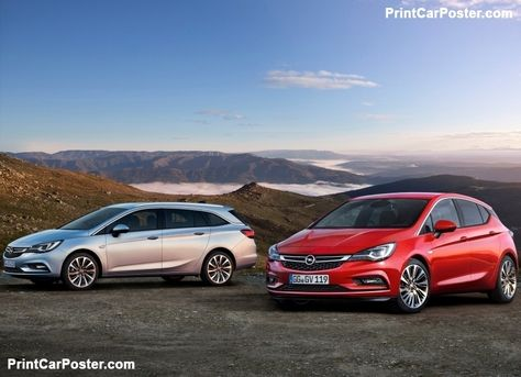 Opel Astra Sports Tourer 2016 Poster Opel Holden Astra Car