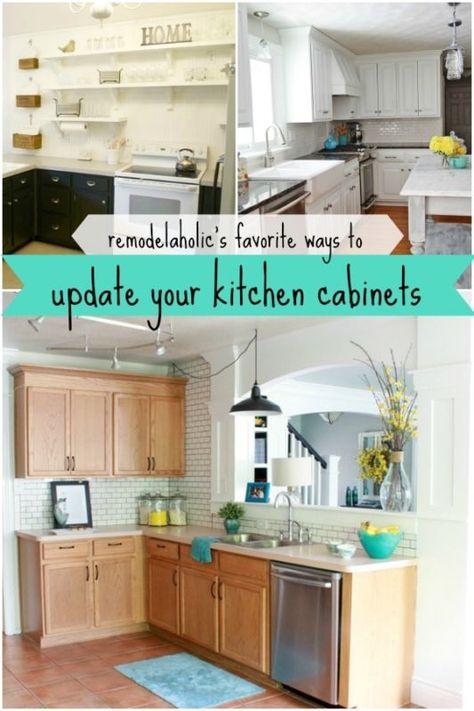 5 ways to update your kitchen cabinets. @Remodelaholic.com #spon #kitchen #cabinet #update