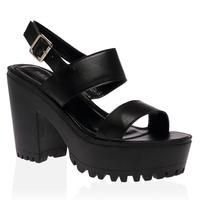 d5a5da9ac Buy Rubie Black Cleated Heeled Sandal £16.99 from Women s Sandals range at…