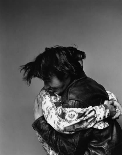 Keanu Reeves and River Phoenix from the Interview magazine photo shoot, November 1991