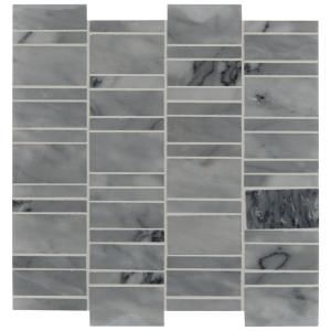 Msi Carrara Classique Multi Pattern 12 In X 12 In X 8 Mm Honed Marble Mosaic Tile 1 Sq Ft Car Mph 5 In 2020 Mosaic Tiles Marble Mosaic Marble Mosaic Tiles