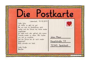 deutsche post karte Brief/Postkarte schreiben – Deutsch | Postkarte schreiben