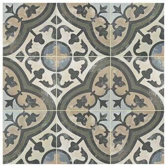 Ardisana 13 X 13 Ceramic Field Tile French Country Bathroom