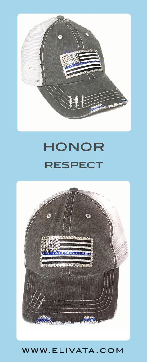 19f3603fd96 Love this  thinblueline  distressedtruckerhat add it to your flag hat  collection