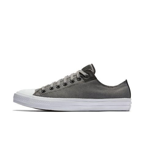 Converse Chuck II Woven Low Top Men's Shoe Size 10.5 (Grey