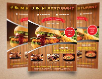 Check Out New Work On My Behance Portfolio Restaurant Flyer