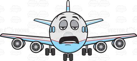 Airplane Arriving Emoji Fun Passenger Jet